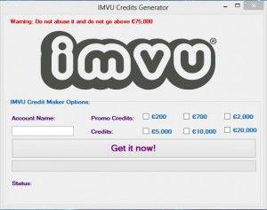 Imvu Credits Generator 2018 Download  Imvu Credits Generator