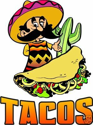 Tacos Taco Mexican Restaurant Concession Food Truck Vinyl Sticker Decal 24 Ebay In 2021 Taco Cartoon Mexican Restaurant Mexican Tacos