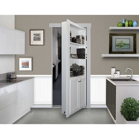 at Costco? This unit installs in place of existing door of a opening and transforms an ordinary doorway into a secret passage or hidden door maximizing square footage storage space in your home or office.