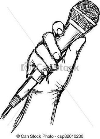 Resultado De Imagem Para Holding Microphone Drawing Desenho De Microfone Microfone Tattoo Microfone