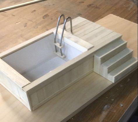 Casa De Muñecas hecho A MANO cajón de madera W escala 12th Nueva hecho a mano comida peces Cajón