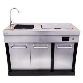 Leisure Season Modular Outdoor Kitchen Refrigerator Lowes Com Modular Outdoor Kitchens Outdoor Kitchen Grill Outdoor Kitchen Cabinets