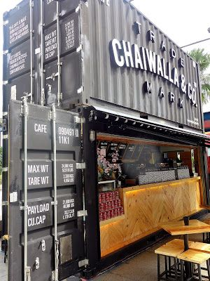 Eat drink kl: chaiwalla co container cafe @ the curve container bar, container design