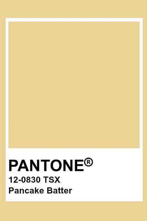 Pantone Pancake Batter