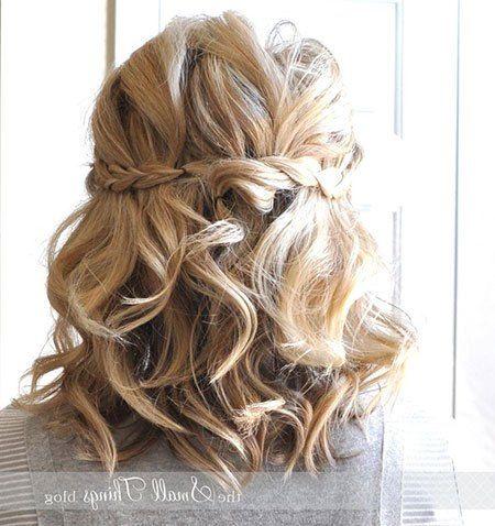 23 Bridal Hairstyles For Short Hair 8 Braided Updo Hair Mother Of The Groom Hairstyles Shoulder Hair Short Wedding Hair