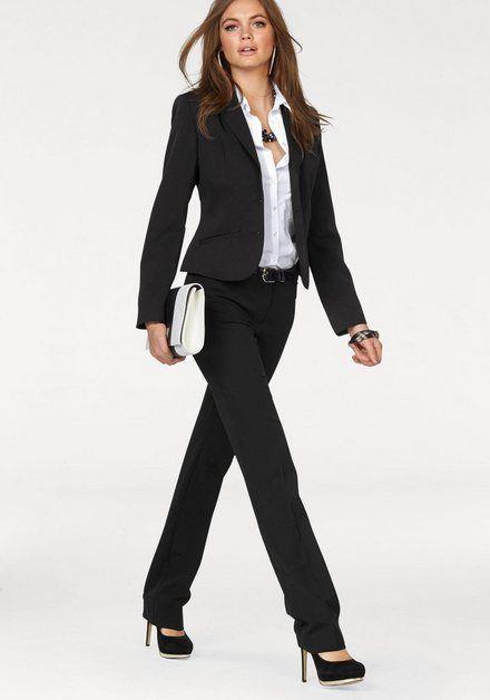 Slim Fit Blazer mit Anzughosen Business Outfit YYNUDA Damen Hosenanzug 2 Teiilg Anzug Set