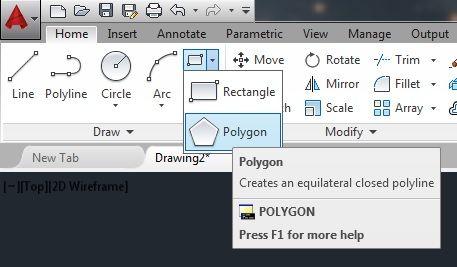 The AutoCAD Polygon command | autocad | Autocad, Wireframe