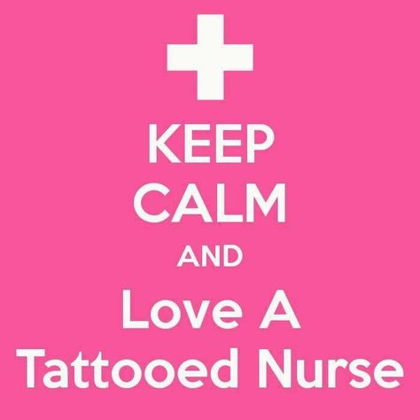 For my lovely tattooed nurse friends... which is probably most of you. :)