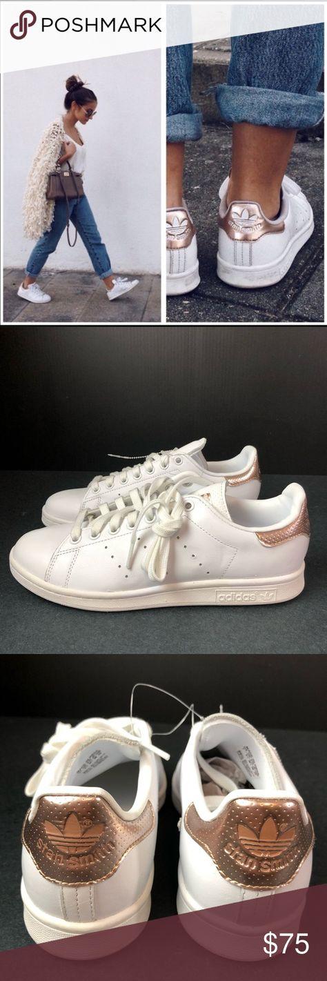 official photos e3cf3 2cf35 Adidas Stan Smith Rose Gold Metallic Sneakers NWT Adidas Originals Stan  Smith