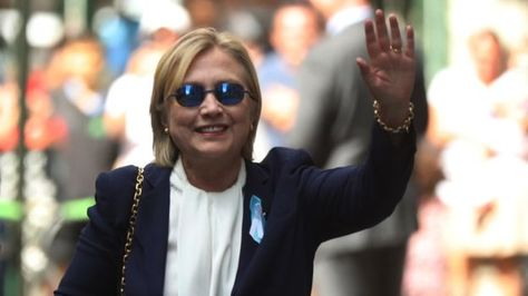 """US Republican presidential candidate Donald Trump has pledged to release details about his health after his Democratic rival Hillary Clinton was diagnosed with pneumonia. Mr Trump said health had now become """"an issue"""" in the election campaign. Mrs Clinton was taken ill on Sunday at a 9/11 memorial ceremony and cancelled a campaign trip to California."""