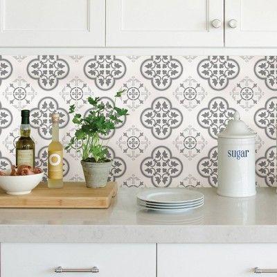 13 5 Sq Ft Wallpaper Cover White Gray Brewster Peel Stick Backsplash Rustic Kitchen Peel N Stick Backsplash