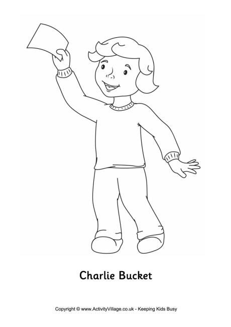 Charlie Bucket Colouring Page Charlie Chocolate Factory
