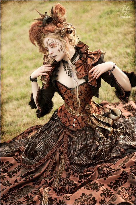 Nice use of color and patterns. steampunk