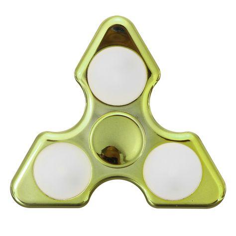 Aluminum alloy Round Fidget Spinner Hand 6 Beads Mini Toys Finger Tri Spinners