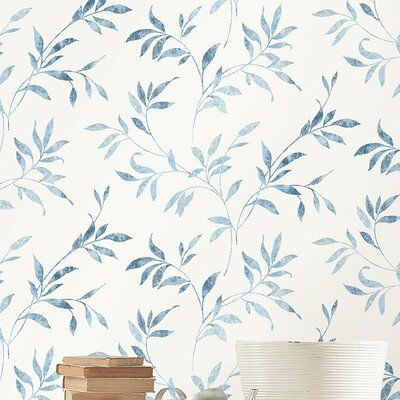 Charlton Home Barkhampstead 33 L X 20 5 W Floral And Botanical Wallpaper Roll Floral Bathroom Wallpaper Botanical Wallpaper Magnolia Wallpaper