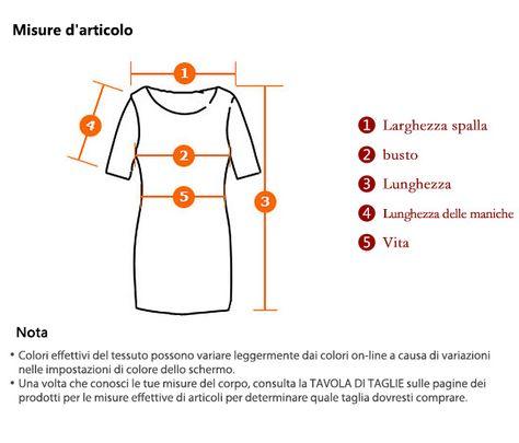 Regina ™ da donna chiffon con scollo a V A-line abiti lunghi del manicotto - EUR € 16.74
