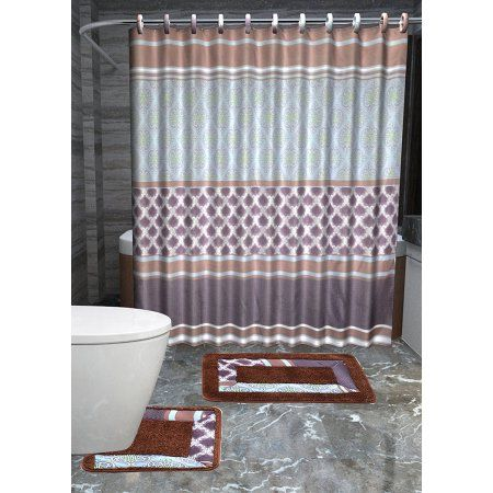 Fabric Shower Curtain For Unique Bathroom Decor With Images Bathroom Accessories Sets Small Bathroom Vanities Amazing Bathrooms