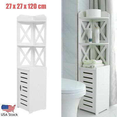 Made Of Premium Material Durable In Use Ample Space For Storage Fits Your Different Sto Tall Bathroom Storage Bathroom Corner Storage Small Bathroom Interior