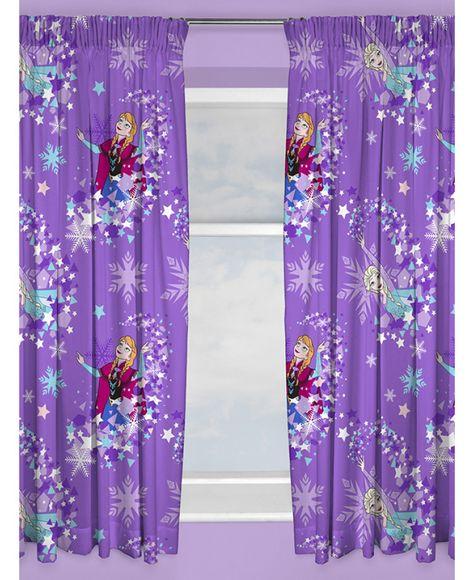 Disney Frozen Snowflake Curtains Purple Curtains Disney