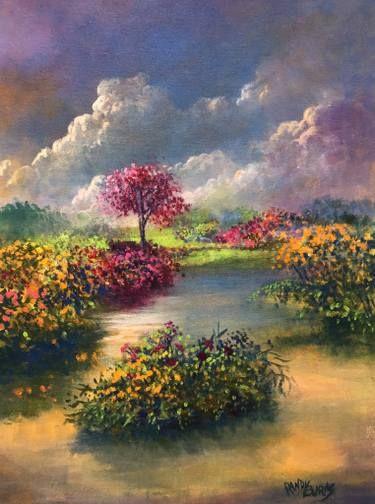 Oasis In Heaven Heaven Painting Beautiful Paintings Of Nature Original Landscape Painting