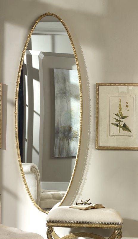 Mercer41 Lea Oval Full Length Mirror Wayfair Mirror Wall Bedroom Wall Mirror Decor Living Room Full Length Mirror