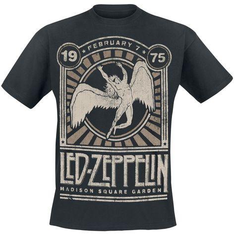 Led Zeppelin  T-Shirt  »Madison Square Garden 1975«   Jetzt bei EMP kaufen   Mehr Band-Merch  T-Shirts  online verfügbar ✓ Unschlagbar günstig!