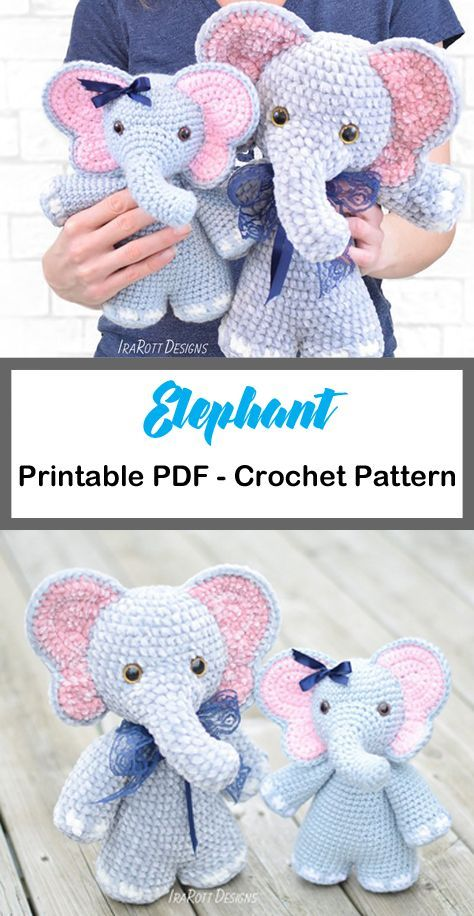 DIY your own amigurumi elephant toy with this FREE crochet pattern ... | 916x474
