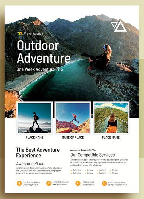 Inspiring OutDoor Adventure Flyer Template PSD