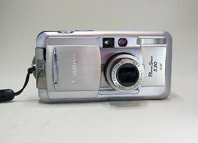 Canon Powershot S30 Pc1018 3 2mp Digital Camera Silver Digital Camera Camera Powershot