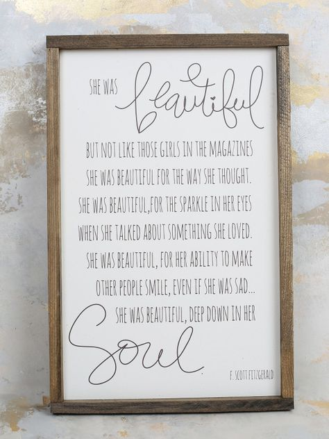 She Was Beautiful Wall Art - Signs & Wall Art - Gifts/Home Decor