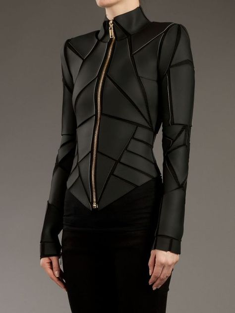 Shop Women's Gareth Pugh Leather jackets on Lyst. Track over 40 Gareth Pugh Leather jackets for stock and sale updates. Gareth Pugh, Fashion Mode, High Fashion, Womens Fashion, Fashion Hacks, Dark Fashion, London Fashion, Style Fashion, Mode Style