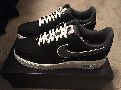 789ae6e02b Mens Nike Air Force 1 07 LV8 Size 10 Black Dark Grey Basketball ...