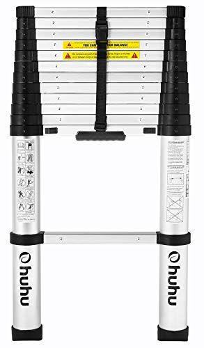 Ohuhu 12 5 Ft Aluminum Telescopic Extension Ladder Extendable Ladder Retractable Ladder Ladder