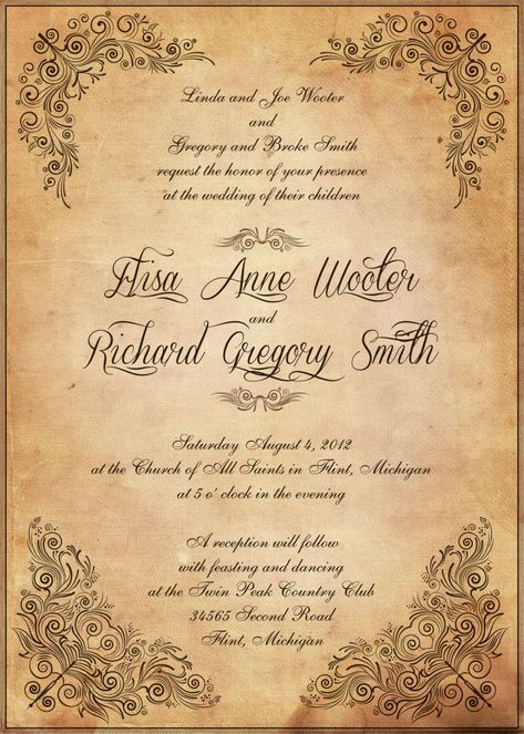 Rustic Love - Invitation Rsvp, Wedding and Weddings - best of invitation english