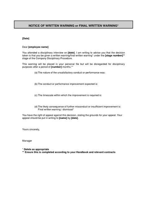 letters free sample final warning letter for insubordination - final notice letter