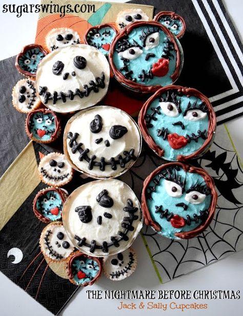 The Nightmare Before Christmas Jack Sally Cupcakes Nightmare