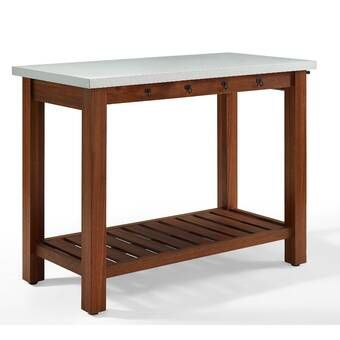 Behling Prep Table With Butcher Block Top Portable Kitchen Island Wood Kitchen Island Rolling Kitchen Island