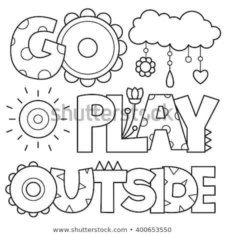 Coloring Page Vector Illustration Coloring Pages Sports