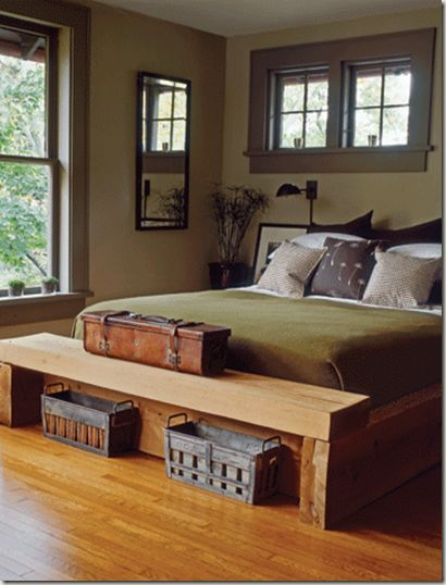 Chunky Wood Bed Frame Bench Bedroom Pinterest. Wooden Bedroom Bench   Home Design