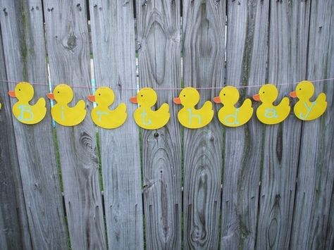 rubber duck baby shower banner
