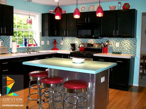 ديكورات مطابخ مودرن صغيرة 2019 2020 Retro Kitchen Retro Kitchen Decor Home Decor Kitchen