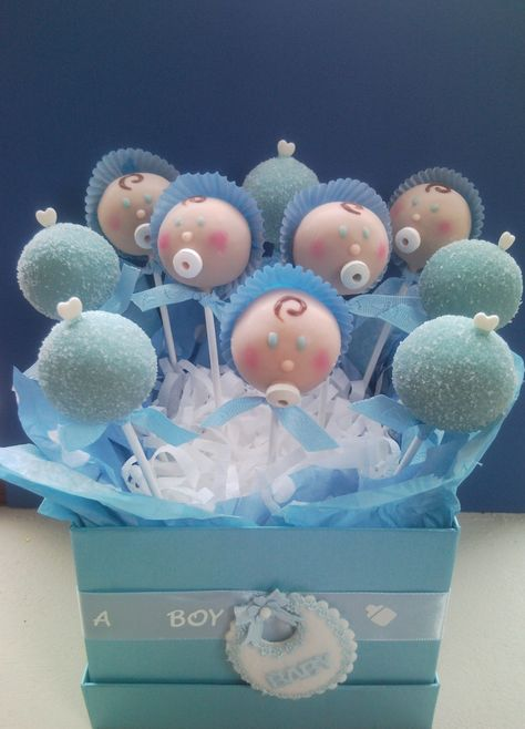 Baby shower cake pops. Adorable.