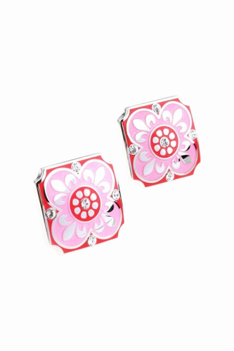 Wedding Party Gift Crystal Floral Cufflinks In Pink. Free 3-7 days expedited shipping to U.S. Free first class word wide shipping. Customer service: help@moooh.net