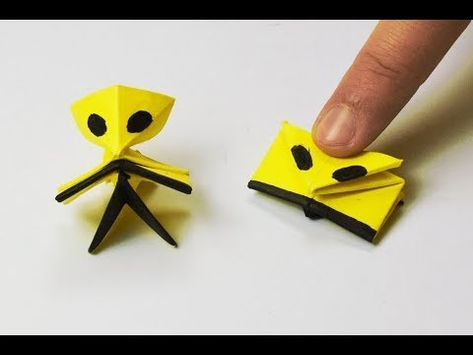 Action Origami Spinning Top Toy Video Tutorial - YouTube | Origami ... | 355x473