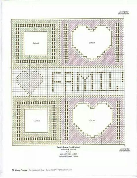Plastic Canvas Picture Frames Ensemble Package of Two Frames by Craft-It