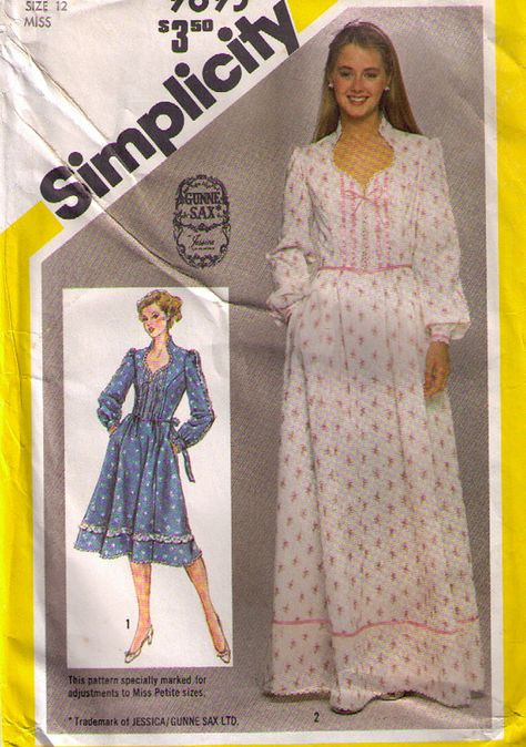 Gunne Sax..Dress Pattern..Vintage...simplicity pattern 9893..prom..wedding..pageant on Etsy, $32.00
