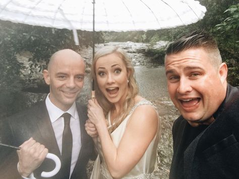 As we walked down to Purling Brook Falls in the pouring Springbrook rain I gave the vet and the English Major the opportunity to get married somewhere dry.  They declined  Paul & Chelsea #marriedbyjosh with the @elopementcollective and Perth's best @jimmy_izophotography