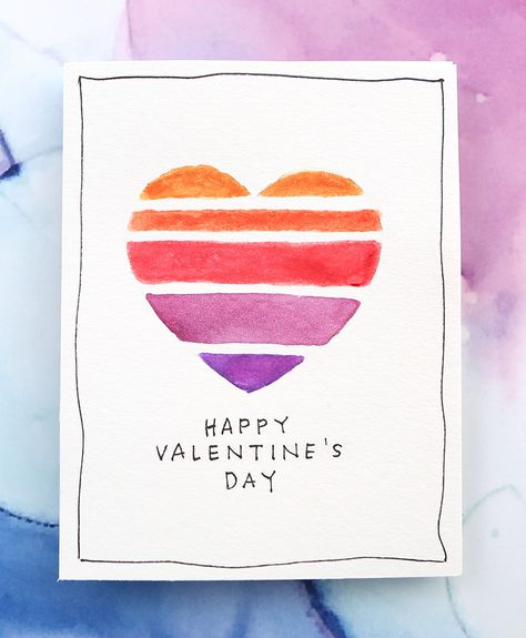 Easy DIY Valentine's Day Card (Minimal Supplies Needed) –. You are in the right place about DIY Te Valentines Day Cards Handmade, Valentines Presents, Happy Valentines Day Card, Be My Valentine, Valentines Day Drawing, Heart Cards, Valentine's Day Diy, Blog, Cool Cards