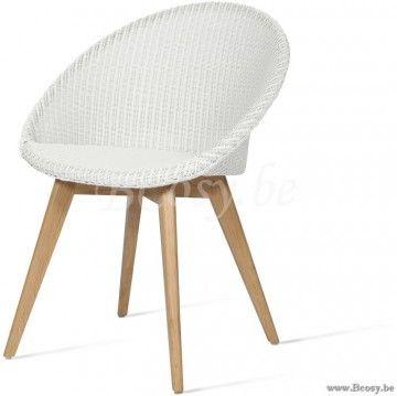 Vincent Sheppard Joe Dining Chair Oak Base Snow Joe Eetkamerstoel