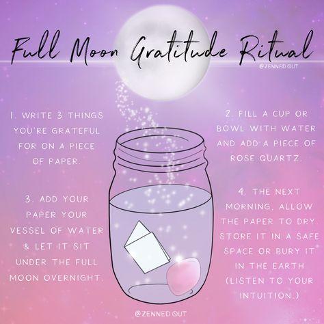 Full Moon Gratitude Rituals